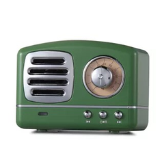Classical Bluetooth Speaker Wireless Radio Card-plugging Mobile Phone Speaker green