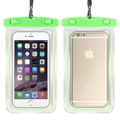 Super Wear Resistant  and Waterproof Mobile Phone Protection Outdoor Luminous Bags green 6 inches