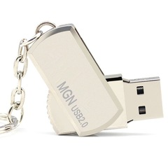 Well known brand MGN high speed rotatable U-disk flash disk car u disk encrypt gold mgn u-disk 64gb