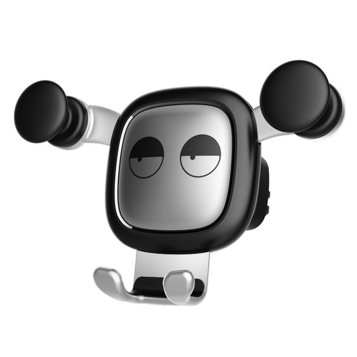 360° Free Rotating Vehicle Bracket Silicone Car Accessory Air Outlet Mobile Phone Bracket for Car silver lovely bear 4''-6''