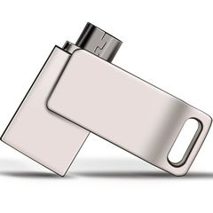 Hinstar mobile phone storage U disk 2 in one OTG USB adapter used by both android phone and computer silver hinstar 8gb