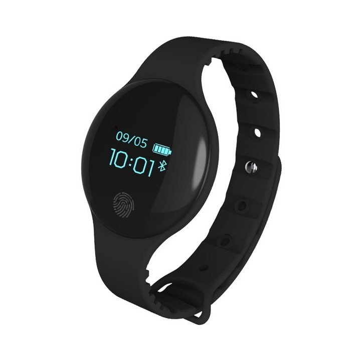 Android Silicone Wristwatch Colorful Sports Pedometer Lovers Couple Gift classical black 0.7inches
