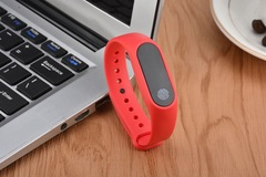 Sports Smart Bracelet Waterproof Health Monitoring Pedometer Bluetooth Wristwatch gray 0.5 inches