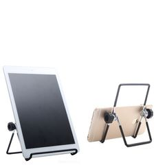 Universal Mobile Phone Tablets Stainless Steel Holder Stand Smartphone Phone Stand black Tablets from 7 to 11 inches