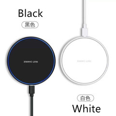 Quick Charger Transparent Border Wireless Charger for iPhone Huawei Xiaomi Samsung white wide compatible