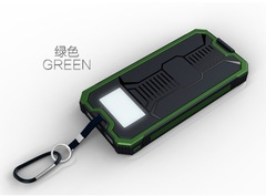 Portable Solar Portable Charger Dual USB Solar Battery Quick Charge Power Bank black 12000mah