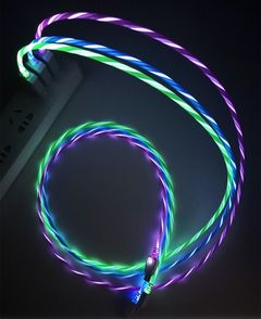 Luminescent Shining Data Cable Micro USB Cable LED Light Visible  Quick Charging Line white android data cable