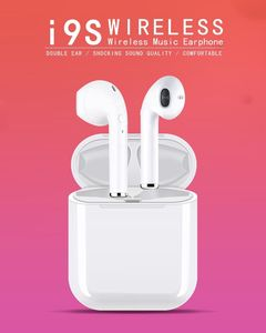 i9S TWS True Wireless Bluetooth Earphones Bluetooth 5.0 Super Bass Dual Earbuds white