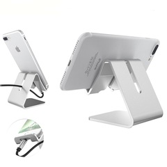 Metal Mobile Phone Holder Bracket Stand Handfree Charging Mobile Stand gray universal