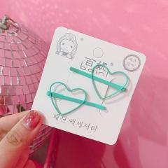 Hair heart shape star shape BP-bobby pin cute hairpins lovely hair style hair clip green
