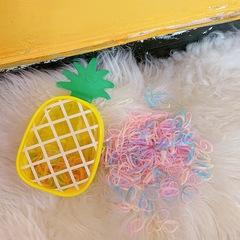 Girl hair ring elastic hair band children hair ring rope girl hair bind cord hair beauty accessories pineapple macaron