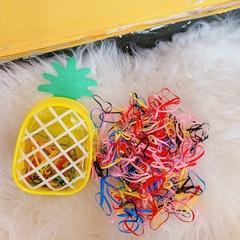 Girl hair ring elastic hair band children hair ring rope girl hair bind cord hair beauty accessories strawberry macaron
