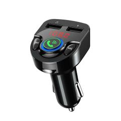 G32 Car Dual USB Bluetooth Charger Audio Frequency FM Transmitter Radio MP3 Player Fast Charger Black