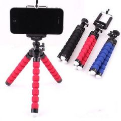 Octopus tripod flexible portable mobile phone holder foldable bracket Red tripod and stand 2 in 1