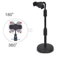 Live internet broadcast mobile phone bracket lifting and adjustable round base stand Black round base