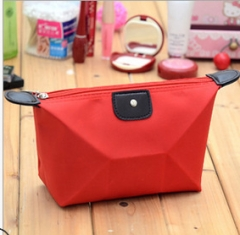 Portable Makeup Bag Toiletry Bag for Women Skincare Cosmetic Pouch red