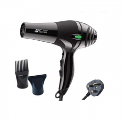1800W Powerful Professional Hair Dryer Blow Dryer UK Plug Hairdryer 220V ZF-3000 BLACK NORMAL