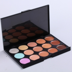 Cosmetics Professional Cream Foundation Camouflage Concealer 15 Colors Palette as the picture