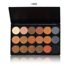 18 Colors Glitter Eyeshadow Shimmer Pigment Palette Cosmetics Glitter Eye Shadow Makeup Beauty as the picture