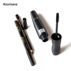 1PCS Mascara 2 Eyeline Extend Eyelashes Curling Lasting Lengthening Waterproof Eye Cosmetics Set black