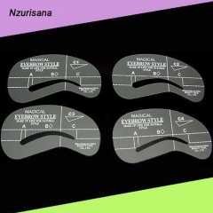 4pcs Stencils Set Card Template Model Thrush Card Paintings Make up Template Eyebrow Shaping Stencil as the picture