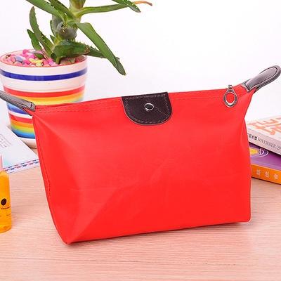 Multifunction Makeup Bag Women Cosmetic Bags Organizer Box Ladies Nylon Travel Storage Bags Wash Bag red