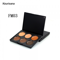 Powder Contour Highlight Makeup Palette–6 Color Face Pallet Makeup Contouring  Concealer Highlighter FM03