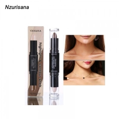Double-ended Eye Concealer Stick Face Foundation Creamy 2 in1 Stick Shimmer Professional Make Up 03#