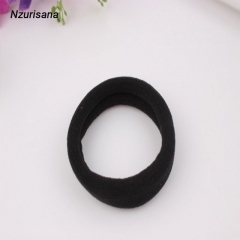 1 PCS High Elastic Ponytail Hairdressing Tools Hair Ties Ropes Gum Ponytail Holders Hair Accessories black normal