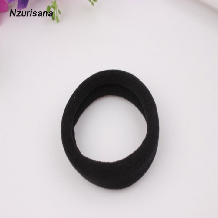 1 PCS High Elastic Ponytail Hairdressing Tools Hair Ties Ropes Gum Ponytail Holders Hair Accessories black normal