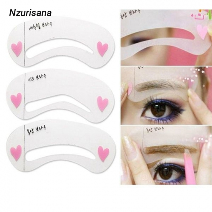 Reusable Eyebrow Stencil Set Eyebrow Mold DIY Drawing Guide  Makeup Beauty Shaping Template Card as the picture