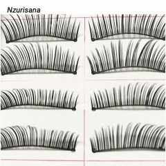 Natural False Eyelashes Long Makeup Lashes Extension Eyelash Mink Eyelashes for Beauty as picture