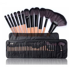 32PCS Professional Makeup Brushes Set Powder Brush Beauty Cosmetic Tools Kit Eyeshadow Brushes Bag burlywood