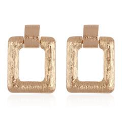 Minimalist ins Metal Earrings Brushed Metal Geometric Earrings gold normal