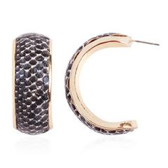 Alloy Big Earring C-shaped Earrings New Simple Ear Jewelry black normal