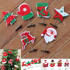 Santa Claus Snowflake Hairpin Headwear Hairpin Hair Accessories Christmas Decorations at random normal