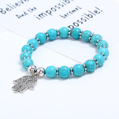 Handmade Beaded Palm Handmade Ladies Jewelry Turquoise Bracelet as picture normal