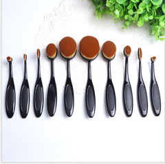 10 Pcs Makeup Brushes Superior Professional Soft Cosmetics Make Up Brush Set Full Function black