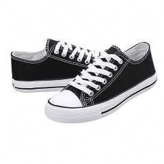 Classic Low Top Canvas Sneakers Sport Leisure Shoes Trainer Men Women Unisex Bestseller black 40