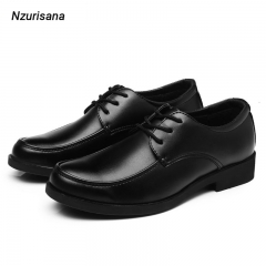 【The Sunset】Men's Formal Classic Business Luxury Oxfords Shoes black 41 leather