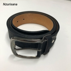 Revolvable Buckle Belts For Men Formal Business Genuine Leather Belt Buckle Fancy Vintage Jeans black normal