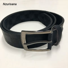 New Designer Belts Men High Quality Leather Belt Pin Buckle Black Business Trouser Strap black normal