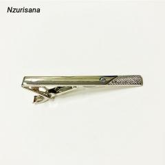 2020 Valentines Gift Men's Alloy Metal Tie Clip Fashion Silver Simple Necktie Tie Pin Bar silver normal
