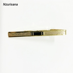 2020 Valentines Gift Fashion Style Tie Clip Gold Tone Simple Bar Clasp Practical Necktie Clasp gold normal
