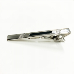 2020 Valentines Gift New and High Quality Tie Clip Fashion Style Men's Business Tie Pin silver normal