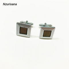 2020 Valentines Gift Shirt Stud Men's Jewelry Unique Business Groom Men Cuff Business silver normal