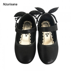 2020 New Soft Leisure Flats Girls Leather Moccasins Casual Driving Ballet Footwear black 30