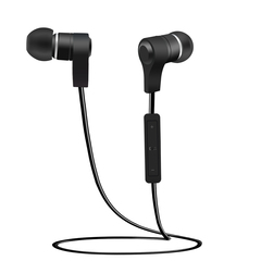 Earphones with Microphone Super Bass Earphone Headset For earphone smartphone black