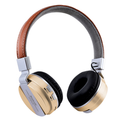 HIFI Stereo Earphones Bluetooth Headphone Music Headset FM for Mobile Xiaomi Iphone Sumsamg Tablet gold