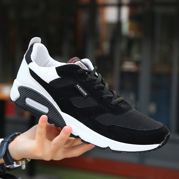 2018 Mens Running Shoes Breathable Male Outdoor Walking Sport Shoes New Man Athletic Sport Sneakers black 39